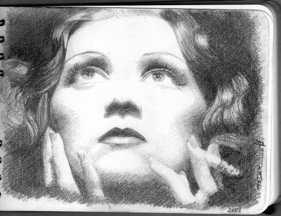 Marlene Dietrich par Rochelle
